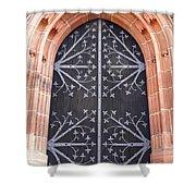 Church Door In Eltville Shower Curtain