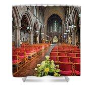 Church Flowers Shower Curtain