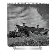 Church Hill Road Barn Shower Curtain