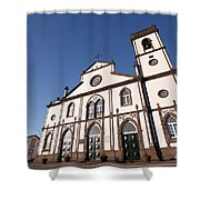 Church In Azores Islands Shower Curtain