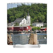 Church In Boothbay Shower Curtain