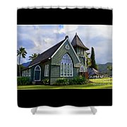 Church In Hanalei Kauai  Shower Curtain