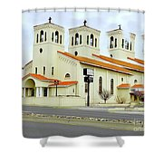 Church In New Mexico Multiplied Shower Curtain