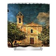 Church In Peillon Shower Curtain