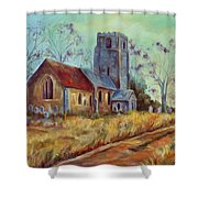 Church In Suffolk  Shower Curtain