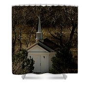 Church In The Garden Shower Curtain