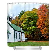 Church In The Wildwood Shower Curtain