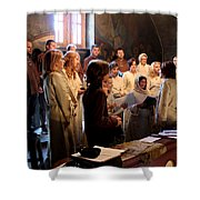 Church Shower Curtain by Milan Mirkovic