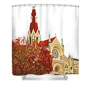 Church Next Door Shower Curtain