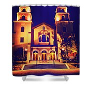 Church Night Shower Curtain