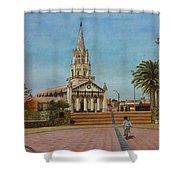 Church Of Caldera Shower Curtain