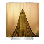 Church Of Fire Shower Curtain