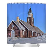 church of Ilulissat - Greenland Shower Curtain