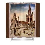 Church Of Notre-dame Of Dijon France - Remastered Shower Curtain