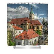 Church Of Our Lady Victorious Shower Curtain