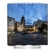 Church Of Santo Domingo Panorama Cadiz Spain Shower Curtain