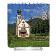 Church Of St. Johann In Ranui Shower Curtain
