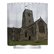 Church Of St. Mary's - Wedmore Shower Curtain