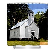 Church Of The Baptist Shower Curtain