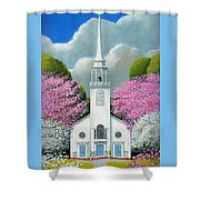Church Of The Dogwoods Shower Curtain