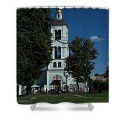 Church Of The Holy Mother Of God The Source Of Life At Tsaritsyno Park Shower Curtain