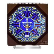Church Of The Mediator Window Shower Curtain