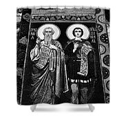Church Of The Saviour On Spilled Blood, Saint Petersburg #3.    Black And White Shower Curtain