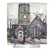 Church On Chelsea Embankment Shower Curtain