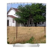 Church On The Grasslands  Shower Curtain