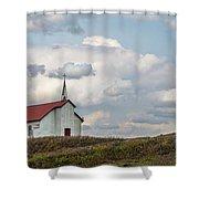 Church On The Hill Shower Curtain