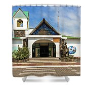 Church Parroquia Franciscana Santa Marianita Puerto Ayora Santa  Shower Curtain