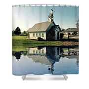 Church Reflection Shower Curtain