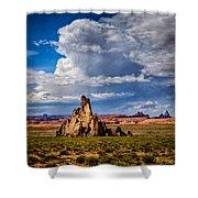 Church Rock Thunderhead Shower Curtain