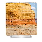 Church Rock Us Highway 163 191 In Utah East Of Canyonlands Natio Shower Curtain