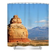 Church Rock Utah Shower Curtain