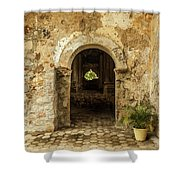 Church Ruins At El Rosario, Sinaloa Shower Curtain