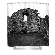 Church Ruins Hvalsey Shower Curtain