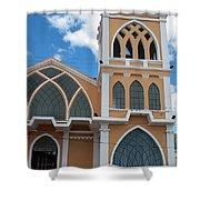 Church Steeple In Ibarra Shower Curtain