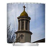 Church Steeple Nashville Shower Curtain