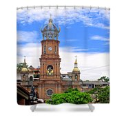 Church Steeples In Puerto Vallarta Shower Curtain