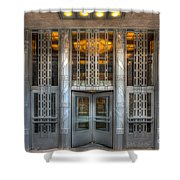Church Street Post Office I Shower Curtain by Clarence Holmes