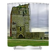 Church Tower - Remains Of St Helens Church Shower Curtain