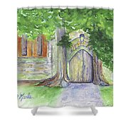 Church Trees Shower Curtain