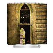 Church Window Church Bell Shower Curtain