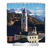 Churches In Berchtesgaden Shower Curtain