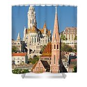 Churches In Budapest Hungary Shower Curtain