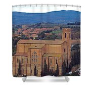 Churches Of Sienna Shower Curtain
