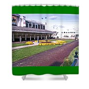 Churchill Downs Paddock Area Shower Curtain