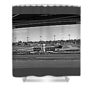 Churchill Downs' Winner's Circle In Black And White Shower Curtain