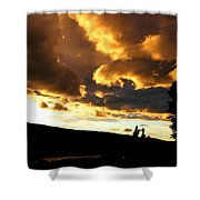 Churning Clouds 1 Shower Curtain